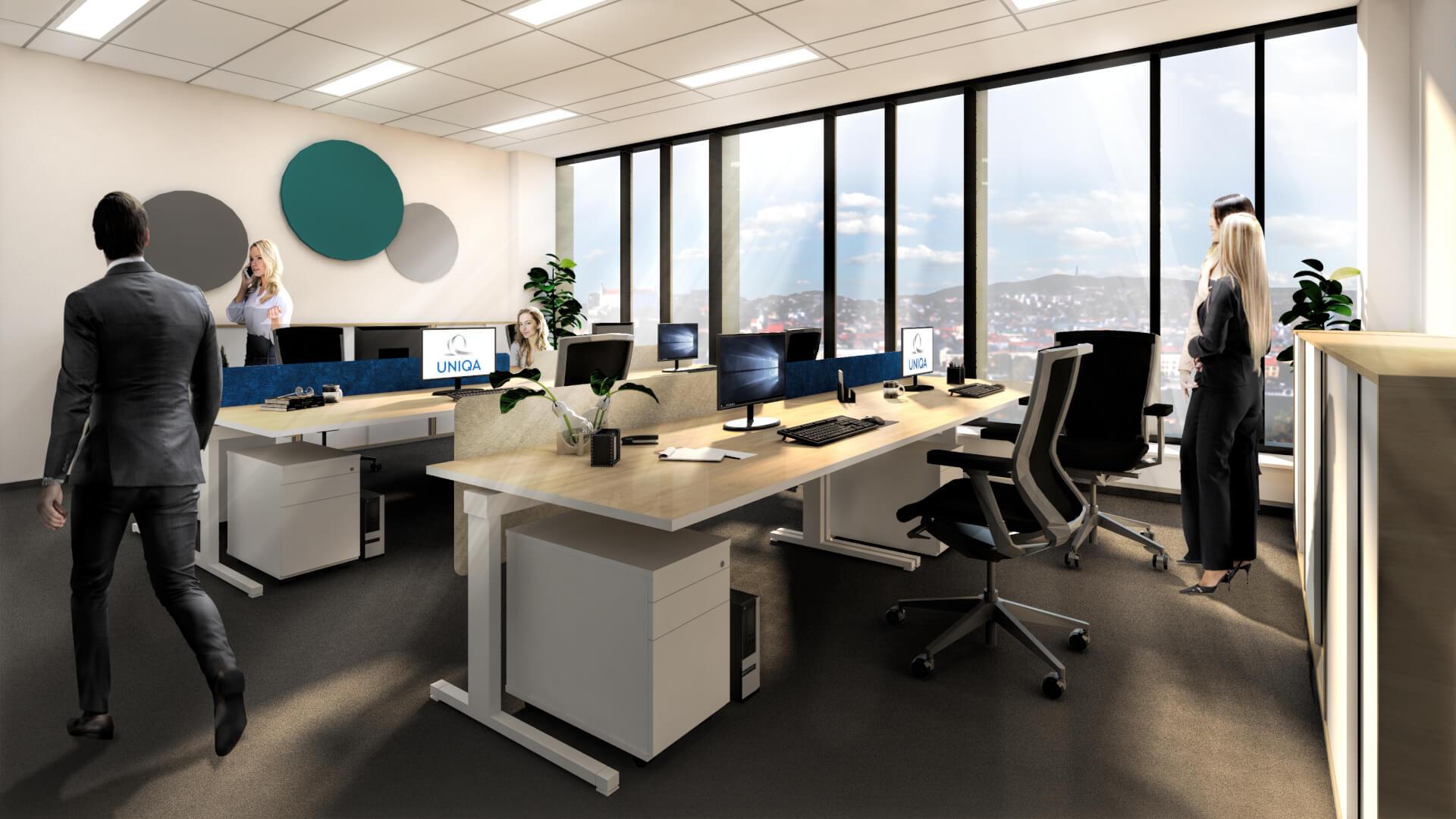 Centrála poisťovne UNIQUA v Bratislave